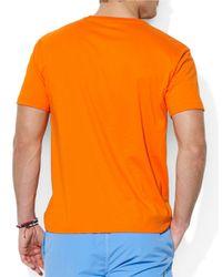 Polo Ralph Lauren   Orange Classic-Fit Short-Sleeved Cotton Jersey Pocket Crewneck for Men   Lyst