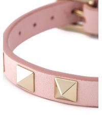 Valentino   Pink 'Rockstud' Bracelet   Lyst