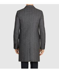 Gucci - Gray Wool Cashmere Overcoat for Men - Lyst