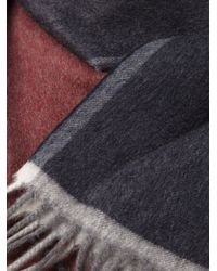 Ferragamo - Red Colour Block Scarf for Men - Lyst