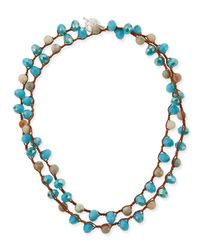 An Old Soul - Blue Faceted Bead Necklace - Lyst