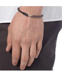 Yuvi Black Diamond and Glass Bead Bracelet for men