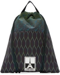 KENZO | Green And Black Drawstring Backpack for Men | Lyst