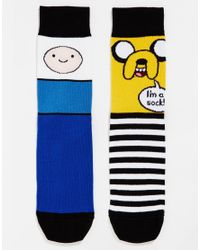 ASOS - Multicolor 2 Pack Socks With Adventure Time Print for Men - Lyst