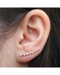 Anne Sisteron - Pink 14kt Rose Gold Diamond Shooting Star Ear Cuff - Lyst
