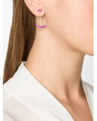 Gemma Redux - Purple Curve Earrings - Lyst