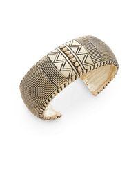 BCBGeneration | Metallic Mega Cuffs Textured Zig Zag Bracelet | Lyst