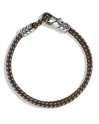 David Yurman | Chevron Two-row Bracelet In Gray | Lyst