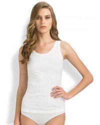 Hanro - White Cotton Superior Top - Lyst