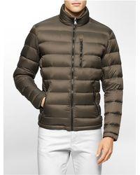 Calvin Klein - Metallic White Label Packable Down Jacket - Lyst