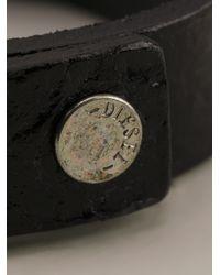 DIESEL | Black Logo Bracelet for Men | Lyst