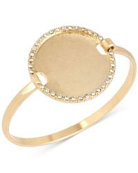 Kenneth Cole | Metallic Kenneth Cole Gold-tone Circle Disk Bangle Bracelet | Lyst