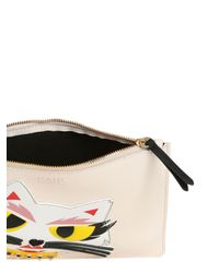 Karl Lagerfeld - Natural Monster Choupette Coated Canvas Pouch - Lyst