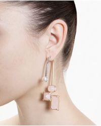 Volha - Purple Crystal Single Earring - Lyst