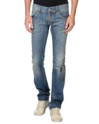 Dolce & Gabbana - Blue Denim Trousers for Men - Lyst