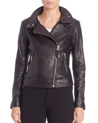 Mackage | Gray Lisa Leather Jacket | Lyst