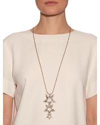 Erickson Beamon - Metallic Crystal-embellished Star Necklace - Lyst
