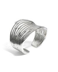 John Hardy | Metallic Bamboo Wide Flex Cuff | Lyst