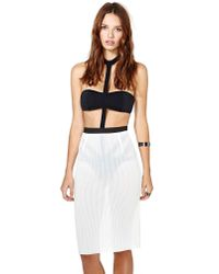 Nasty Gal - White Nothing But Net Skirt - Lyst