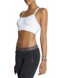 Adidas By Stella McCartney - White Climaliteâ Stretch Jersey Sports Bra - Lyst