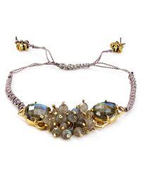Coralia Leets | Metallic Beaded Macramé Bracelet | Lyst