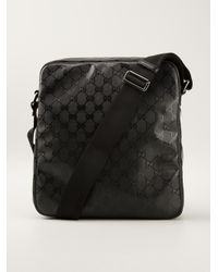 69933b3ae Gucci Monogram Shoulder Bag in Black for Men - Lyst