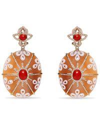Wilfredo Rosado - Orange Starburst Cameo Earrings - Lyst