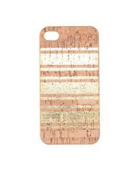 J.Crew | Metallic Goldstripe Cork Case For Iphone 44s | Lyst