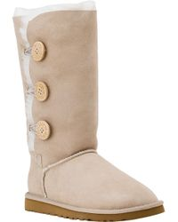 UGG - Natural Bailey Button Triplet Boot Sand Suede - Lyst