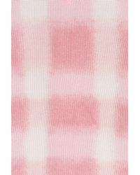 Marc By Marc Jacobs | Pink Blurred Gingham Cotton-blend Pullover - Rose | Lyst