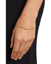 Malcolm Betts - Metallic Diamond Gold Charm Bangle - Lyst