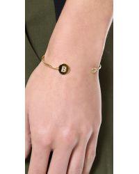 Tai | Metallic Letter Open Cuff Bracelet - S | Lyst