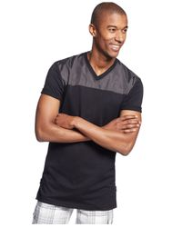 INC International Concepts | Black Elongated Zip-hem V-neck T-shirt for Men | Lyst