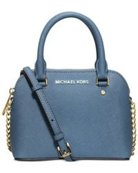 Michael Kors | Blue Michael Cindy Mini Crossbody | Lyst