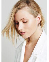 Free People Metallic Tiger Mountain Womens Etched Swirl Earrings