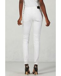 True Religion | White Halle Super Skinny Moto Womens Jean | Lyst