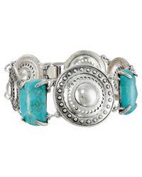 Sam Edelman - Blue Disc Stone Line Bracelet - Lyst