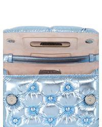 Benedetta Bruzziches - Blue Carmen Quilted Laminated Shoulder Bag - Lyst