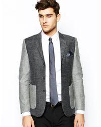 ASOS - Gray Polka Dot Tie and Pocket Square Set for Men - Lyst