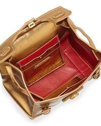 Ralph Lauren - Metallic Soft Ricky 18 Mini Crossbody Bag - Lyst