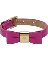 Mulberry | Purple Leather Bow Bracelet | Lyst