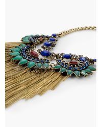 Mango - Metallic Faceted Crystal Necklace - Lyst