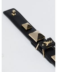 Patrizia Pepe | Black Costume Jewellery Bracelet In Leather With Studs | Lyst