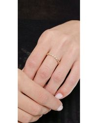 EF Collection | Metallic Diamond Stack Ring - Gold/clear | Lyst