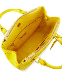 Tory Burch - Yellow Robinson Micro Double-Zip Leather Shoulder Bag - Lyst