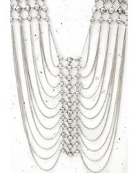 Forever 21 Metallic Stud Draped Chain Necklace