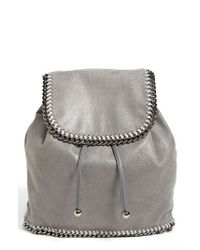 Stella McCartney | Gray 'falabella - Shaggy Deer' Backpack | Lyst