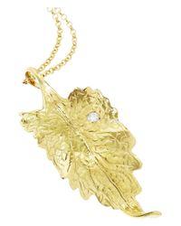 Ana Khouri - Metallic Leaf 18karat Gold Diamond Necklace - Lyst
