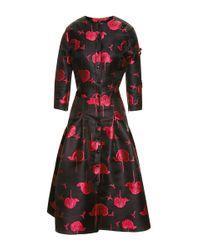 Carolina Herrera - Pink Bee and Floral Print Dress - Lyst