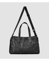 b72bb607826 AllSaints Boundary Leather Holdall Usa Usa in Black for Men - Lyst